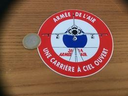 AUTOCOLLANT, Sticker «armée De L'air - UNE CARRIÈRE À CIEL OUVERT» (avion) - Stickers