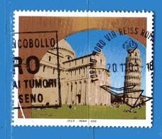 Italia °- Anno 2002 - UNESCO - PISA . USATO. Unif 2682.  Vedi Descrizione - 6. 1946-.. Repubblica