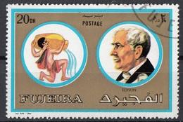 Fujeira 1972 Mi. 1308 Segni Zodiaco Personalità Acquario - Thomas Edison Nuovo CTO - Fisica