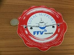 AUTOCOLLANT, Sticker «TOTAL SUPPORT - FFV Aerotech» (avion) - Stickers
