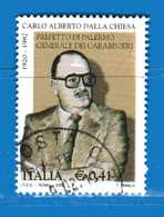 Italia °- Anno 2002 - CARLO ALBERTO DALLA CHIESA . USATO. Unif 2684.  Vedi Descrizione - 6. 1946-.. Repubblica