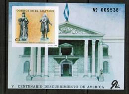 EL SALVADOR  Scott # 1203** VF MINT NH SOUVENIR SHEET  (LG-1140) - El Salvador