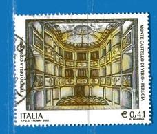 Italia °- Anno 2002 - TEATRO CONCORDIA VIBIO . USATO. Unif 2685.  Vedi Descrizione - 6. 1946-.. Repubblica