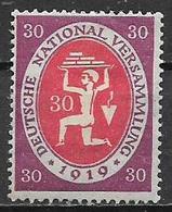 GERMANIA REICH  REP.DI WEIMAR 1919-20 ASSEMBLEA COSTITUENTE DI WEIMAR UNIF.109 MLH VF - Nuovi