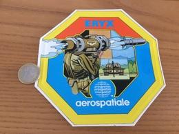 AUTOCOLLANT, Sticker «aerospatiale - ERYX» (missile, Militaire, Char) - Stickers