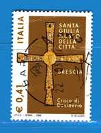 Italia °- Anno 2002 - PATRIMONIO ARTISTISTICO - Croce Di Desiderio . USATO. Unif 2688.  Vedi Descrizione - 6. 1946-.. Repubblica