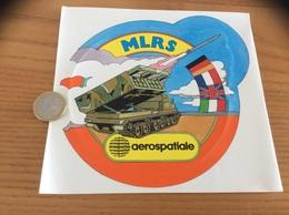 AUTOCOLLANT, Sticker «aerospatiale - MLRS» (missile, Militaire, Char) - Stickers