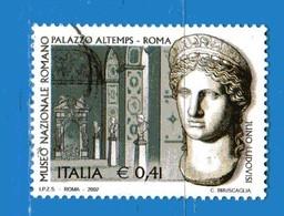 Italia °- Anno 2002 - PATRIMONIO ARTISTISTICO - Juno Ludovisi . USATO. Unif 2689.  Vedi Descrizione - 6. 1946-.. Repubblica