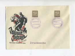 1939 Böhmen Und Mähren Schmuckbrief Iglauer Festtage Mit Mitläuferfrankatur SST Iglau - Böhmen Und Mähren
