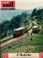 La Vie Du Rail Chemins De Fer L'Ardèche Le Vivarais 1955 - Trains