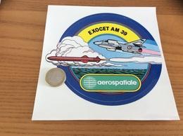 AUTOCOLLANT, Sticker «aerospatiale - EXOCET AM 39» (missile, Militaire, Avion) - Stickers
