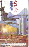 Télécarte JAPON (904) Statue De La Liberte * New York USA * PHONECARD JAPAN * STATUE OF LIBERTY * - Landschappen