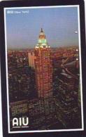 Télécarte JAPON (908) AIU  * New York USA * PHONECARD JAPAN *  TELEFONKARTE - Landschappen