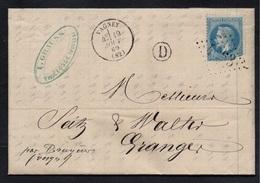 VOSGES - VAGNEY - THIEFOSSE / 1869 LAC POUR GRANGES  (ref 412) - 1863-1870 Napoléon III Lauré
