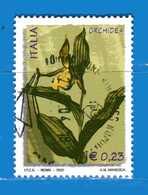 Italia °- Anno 2002 - FLORA E FAUNA - ORCHIDEA . USATO. Unif 2690.  Vedi Descrizione - 6. 1946-.. Repubblica