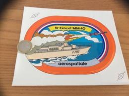 AUTOCOLLANT, Sticker «aerospatiale - Tir EXOCET MM 40» (missile, Militaire, Bateau) - Stickers