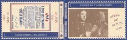 Carnet DE GAULLE APPEL DU 18 JUIN 50è Anniversaire - De Gaulle (General)