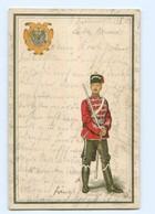 Y9602/ Soldat Husar Regiment Schöne Litho AK 1909 - Unclassified