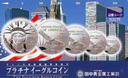 Télécarte JAPON (930) Statue De La Liberte * New York USA * PHONECARD JAPAN * STATUE OF LIBERTY * - Landschappen