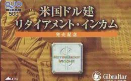 Télécarte JAPON (931) Statue De La Liberte * New York USA * GIBRALTAR * PHONECARD JAPAN * STATUE OF LIBERTY * - Landschappen