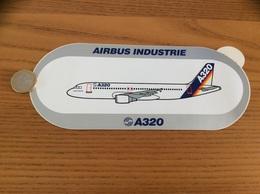 AUTOCOLLANT, Sticker «AIRBUS INDUSTRIE - A320» (avion) - Stickers