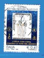 Italia °- Anno 2002 - Alimentazione- FAO-IFAD-WFP-IPGRI . USATO. Unif 2693.  Vedi Descrizione - 6. 1946-.. Repubblica