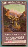 Chemins De Fer De L'Etat Livret-guide Officiel, Normandie Bretagne Ile De Jersey Londres 1923 - Livres, BD, Revues