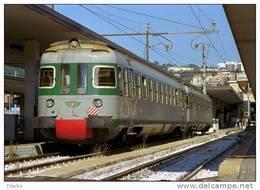 34 Treno Le 780.008 E ALe 601.016 Casaralta-Ocren Ancona Rairoad Trein Railways Treni Chemin De Fer - Stazioni Con Treni