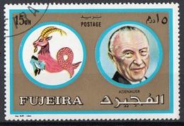 Fujeira 1972 Mi. 1307 Segni Zodiaco Personalità Capricorno - Konrad Adenauer Nuovo CTO - Astrologie