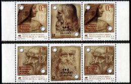 Bosnia Serbia 2007 Leonardo Da Vinci, Art, Science, Famous People, Italy, Set With Labels In Strip MNH - Bosnia And Herzegovina