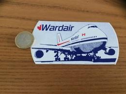 AUTOCOLLANT, Sticker «Wardair» (avion, Canada, Compagnie Aérienne) - Stickers