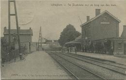 BELGIQUE - ICHTEGHEM - De Staatsstatie Met De Brug Van Den Tram 1915 - Ichtegem