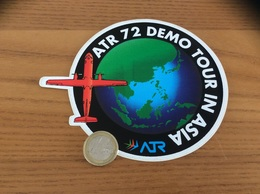 AUTOCOLLANT, Sticker «ATR 72 DÉMO TOUR IN ASIA» (avion) - Stickers