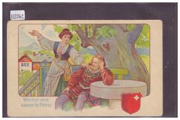 PUBLICITE CHOCOLAT NUZ & Co, LES BRENETS - WERNER VEUT SAUVER LA PATRIE - TB - NE Neuchâtel