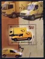 Macedonia 2013 EUROPA, Postal Wehicles, Cars,  Mercedes, VW, Transportation, Transportation, Block, Souvenir Sheet MNH - 2013