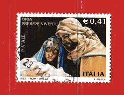 Italia °- Anno 2002 - NATALE - Presepe Vivente . USATO. Unif 2696.  Vedi Descrizione - 6. 1946-.. Repubblica