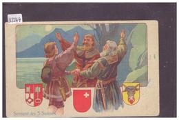 PUBLICITE CHOCOLAT NUZ & Co, LES BRENETS - SERMENT DES 3 SUISSES - B ( PLI HORIZONTAL ) - NE Neuchâtel