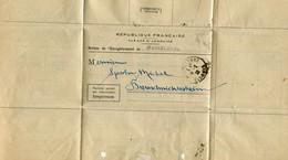 BUREAU DE L ENREGISTREMENT DE WASSELONNE 1932 - Old Paper