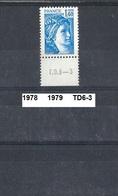 Timbre 1978 Neuf ** Y&T N° 1975 En TD6-3 - 1977-81 Sabine Of Gandon
