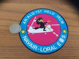 AUTOCOLLANT, Sticker «NAVAIR - LORAL E/S - AN/ALQ-157 HELO IRCM» (hélicoptère, Armée De L'air) - Stickers
