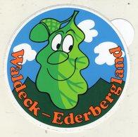 . AUTOCOLLANT .  STICKER .  WALDECK  EDERBERGLAND - Stickers