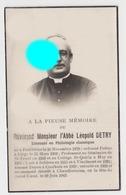 Abbé Léopold Detry Dcd En 1942 à Chaudfontaine + St Trond  Huy  Froidthier  Solières Vinalmont Ancien Doyen De Couthuin - Obituary Notices
