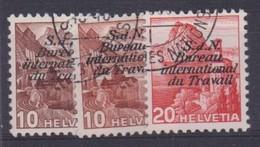 SUISSE SERVICE 1942-43: SDN, BIT,  ZNr 60-62 (série Complète), Oblitérés - Officials