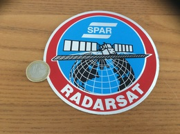 AUTOCOLLANT, Sticker «SPAR - RADARSAT» (satellite, Armée) - Stickers