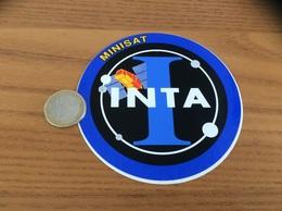 AUTOCOLLANT, Sticker «MINISAT - INTA» (satellite, Armée) - Stickers