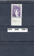 Timbre De 1979 Neuf** Y&T N° 2060 En TD6-1 - 1977-81 Sabine Of Gandon
