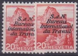 SUISSE SERVICE 1942-43: SDN, BIT,  2 Ex. Du ZNr 62, Neufs * - Dienstpost