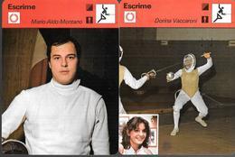 GF1005 - CARTOLINE EDIZIONE RENCONTRE - SCHERMA - MONTANO - VACCARONI - DAL ZOTTO - RAGNO - Fencing