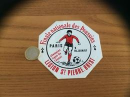 AUTOCOLLANT, Sticker «Finale Nationale Des Poussins PARIS 1987 - LÉGION ST PIERRE BREST (29) » (football, Hermine) - Stickers