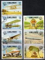 São Tomé E Principe 1983  MiNr. 830/ 836  O/ Used;  200 J Ahre Luftfahrt - São Tomé Und Príncipe